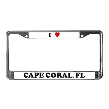 I Love Cape Coral License Plate Frame
