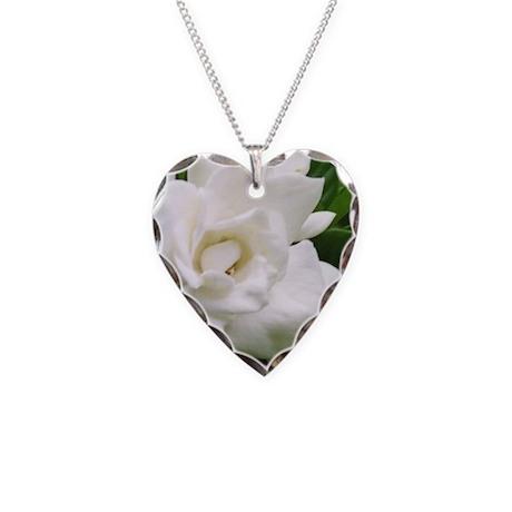 Gardenia Necklace Heart Charm