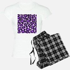 Purple Leopard Print Pattern Pajamas