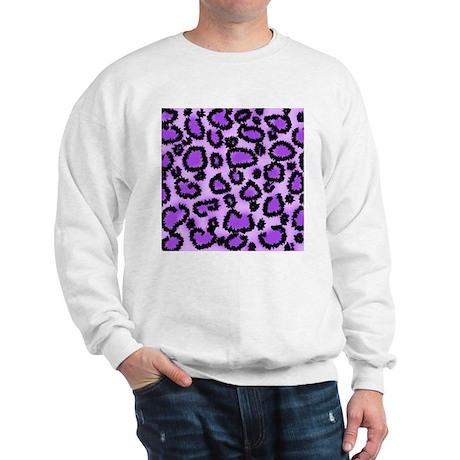 Purple Leopard Print Pattern Sweatshirt