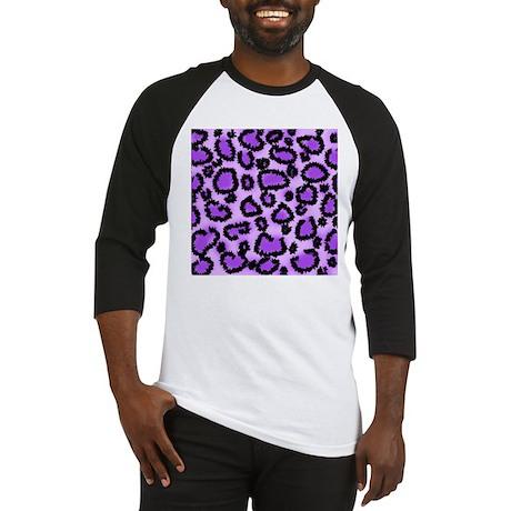 Purple Leopard Print Pattern Baseball Jersey