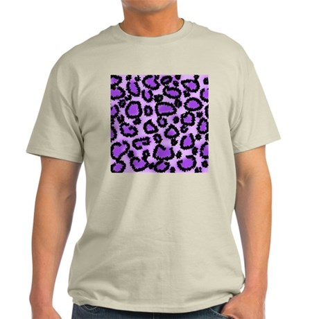 Purple Leopard Print Pattern Light T-Shirt