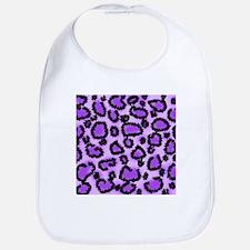 Purple Leopard Print Pattern Bib