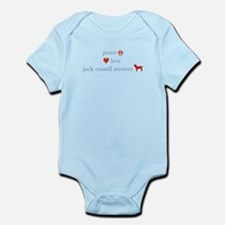 Peace, Love & Jack Russell Terrier Infant Bodysuit