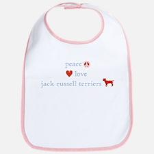 Peace, Love & Jack Russell Terrier Bib