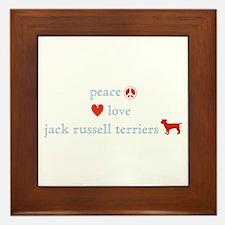 Peace, Love & Jack Russell Terrier Framed Tile