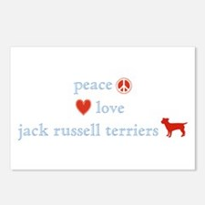 Peace, Love & Jack Russell Terrier Postcards (Pack