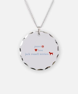 Peace, Love & Jack Russell Terrier Necklace