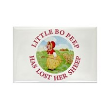 Little Bo Peep Rectangle Magnet