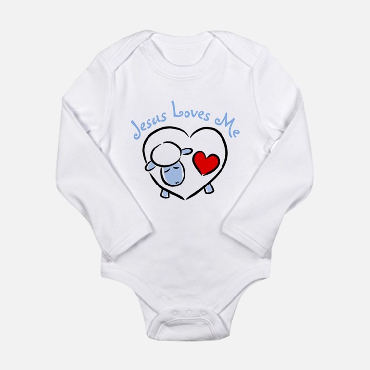 Cute Love sheep Long Sleeve Infant Bodysuit