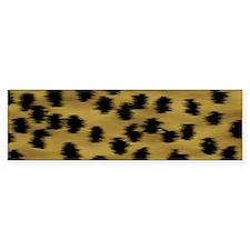 Cheetah Animal Print Pattern Bumper Sticker