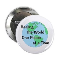 "Healing the World 2.25"" Button (10 pack)"