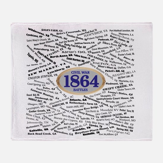 1864 Civil War Battles Throw Blanket