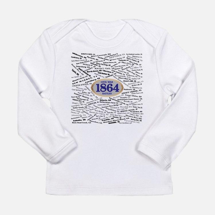 1864 Civil War Battles Long Sleeve Infant T-Shirt