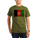 Afghanistan Flag Organic Men's T-Shirt (dark)