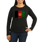 Afghanistan Flag Women's Long Sleeve Dark T-Shirt