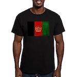 Afghanistan Flag Men's Fitted T-Shirt (dark)