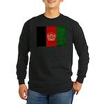 Afghanistan Flag Long Sleeve Dark T-Shirt