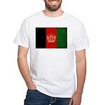 Afghanistan Flag White T-Shirt