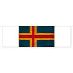 Aland Flag Bumper Sticker