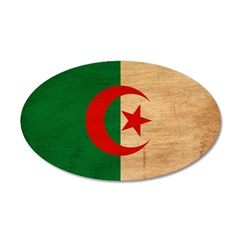 Algeria Flag 22x14 Oval Wall Peel