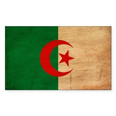 Algeria Flag Sticker (Rectangle 10 pk)