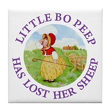 Little Bo Peep Tile Coaster