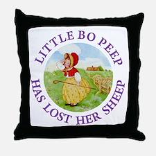 Little Bo Peep Throw Pillow
