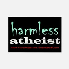 """Harmless Atheist"" Rectangle Magnet"