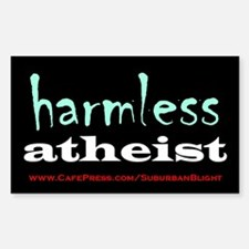 """Harmless Atheist"" Sticker (Rectangle)"