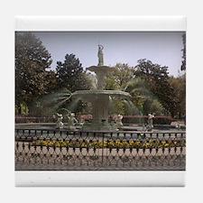 Forsyth Park Fountain Tile Coaster