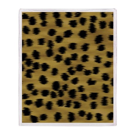 Cheetah Animal Print Pattern Throw Blanket
