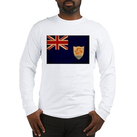 Anguilla Flag Long Sleeve T-Shirt
