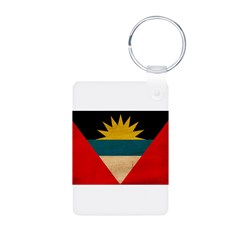 Antigua and Barbuda Flag Aluminum Photo Keychain