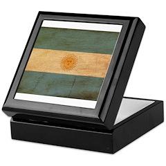 Argentina Flag Keepsake Box