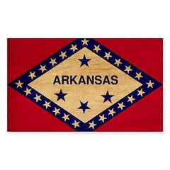 Arkansas Flag Sticker (Rectangle)