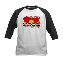 Kiribati Flag Kids Baseball Jersey
