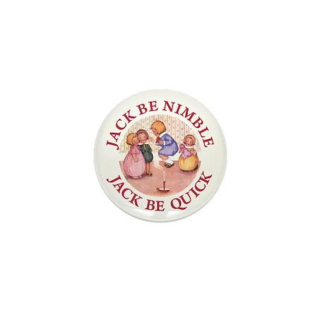 Jack Be Nimble, Jack Be Quick Mini Button