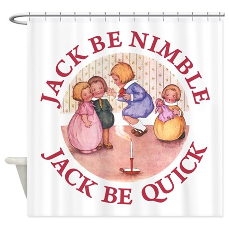 jack be nimble jack be quick shower curtain by rooseveltbears. Black Bedroom Furniture Sets. Home Design Ideas