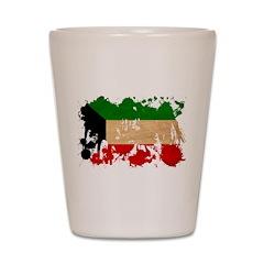 Kuwait Flag Shot Glass