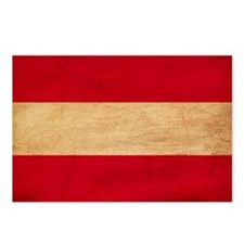 Austria Flag Postcards (Package of 8)