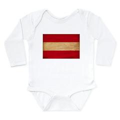Austria Flag Long Sleeve Infant Bodysuit