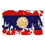 Laos Flag Sticker (Rectangle 10 pk)