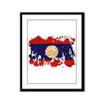 Laos Flag Framed Panel Print