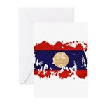 Laos Flag Greeting Cards (Pk of 10)
