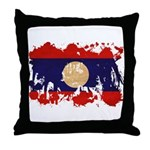 Laos Flag Throw Pillow