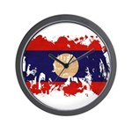 Laos Flag Wall Clock