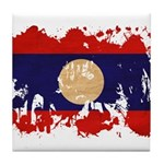 Laos Flag Tile Coaster