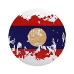 Laos Flag Ornament (Round)