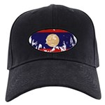 Laos Flag Black Cap